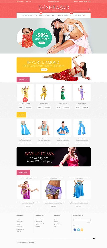 Magento Theme/Template 52798 Main Page Screenshot