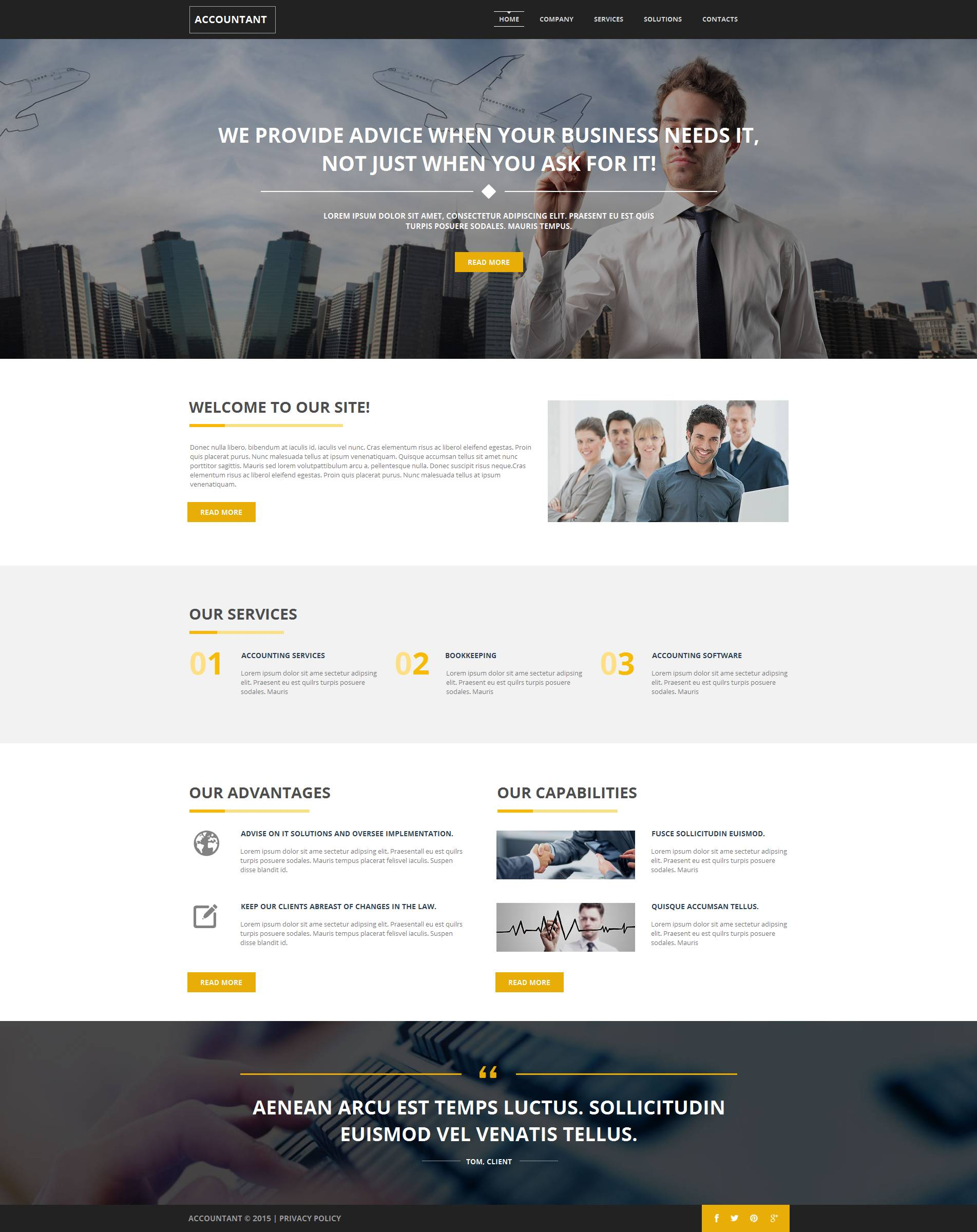 Accounting Website Template