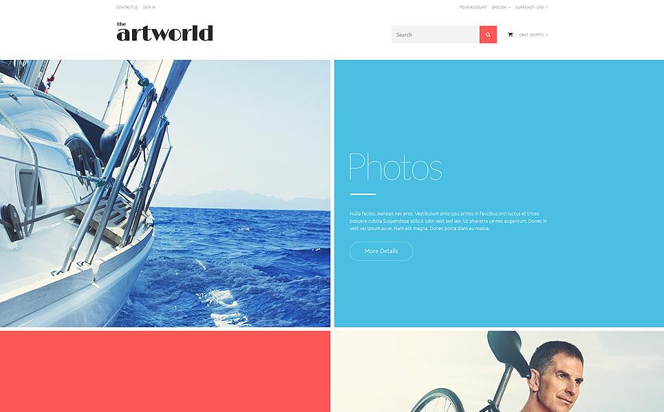 Адаптивний PrestaShop шаблон на тему архів фотографій New Screenshots BIG