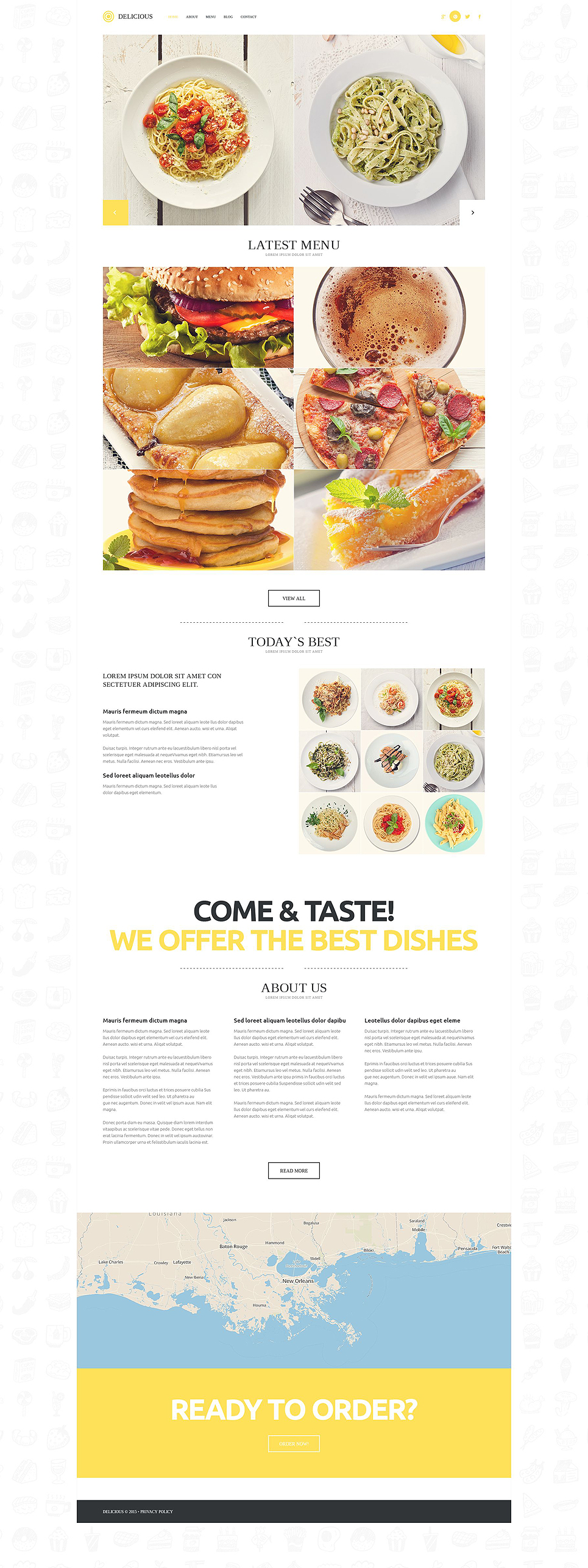 Адаптивный шаблон сайта на тему европейский ресторан #52704