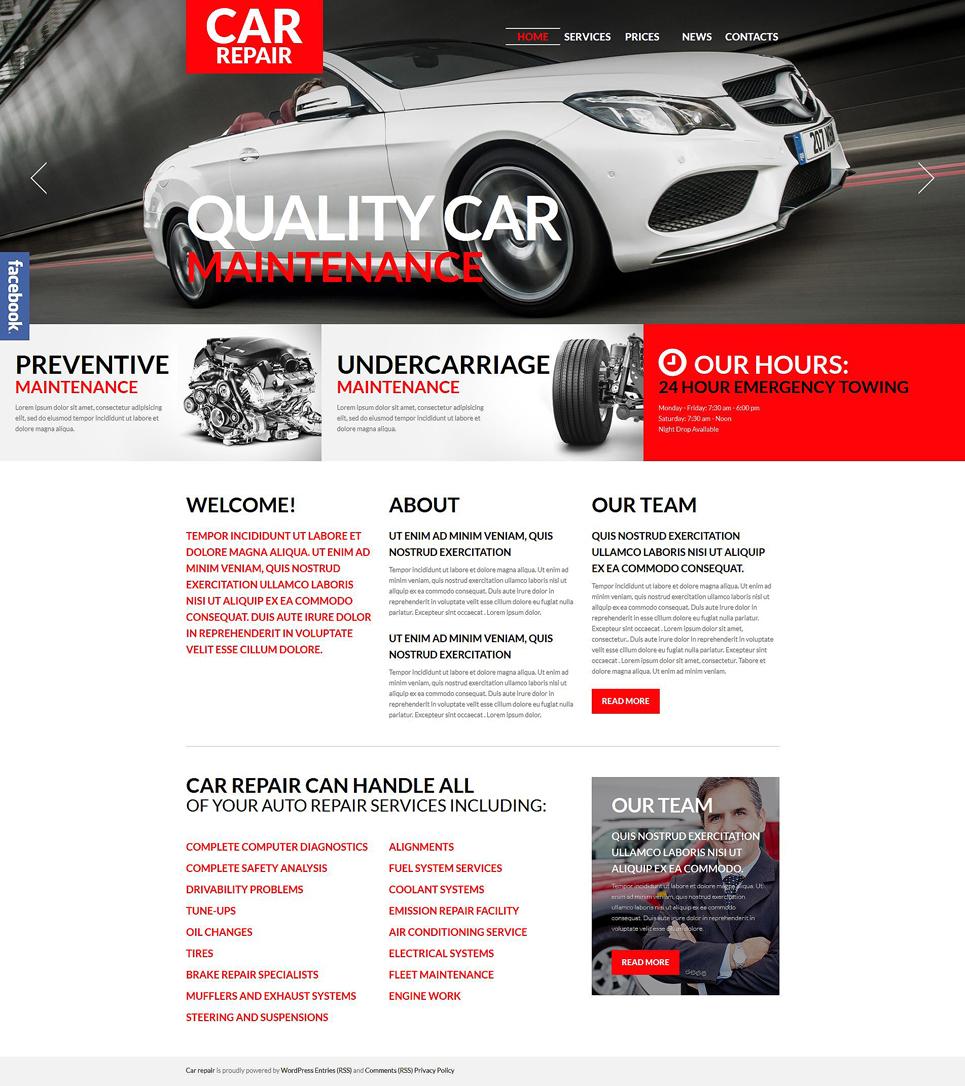 Адаптивный шаблон сайта на тему ремонт авто #52741