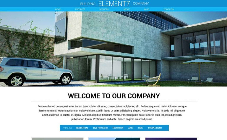 Building Business Website Template