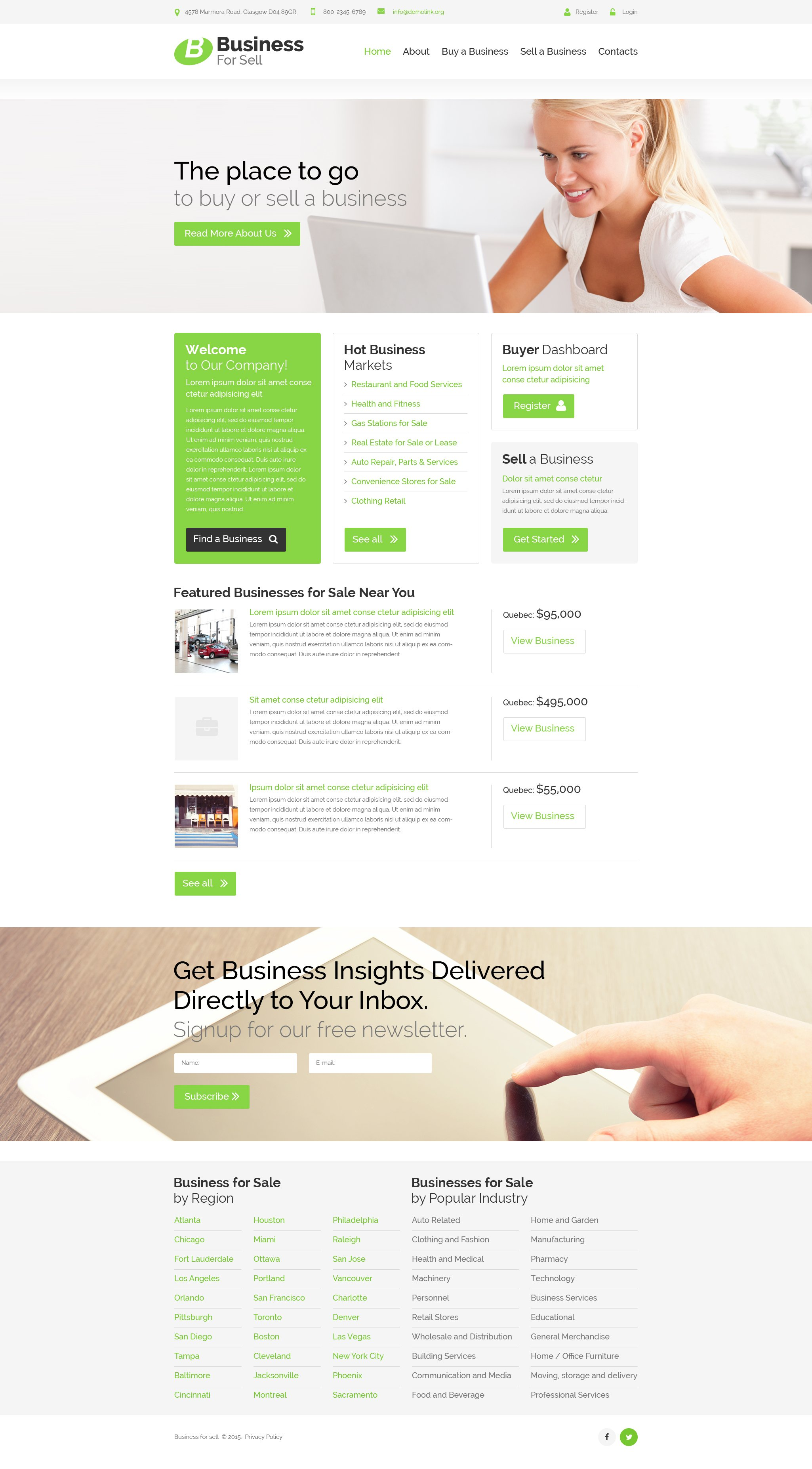 Business for sell website template 52717 business for sell website template fbccfo Gallery