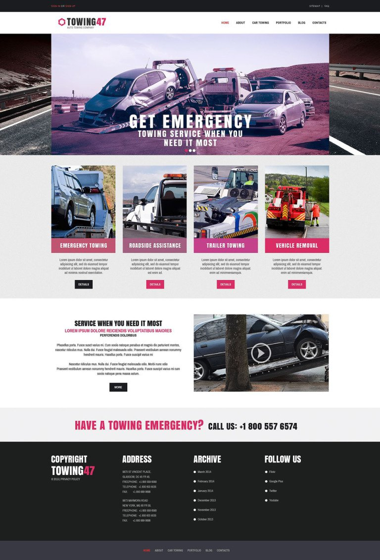 Car Repair Responsive Drupal Template New Screenshots BIG