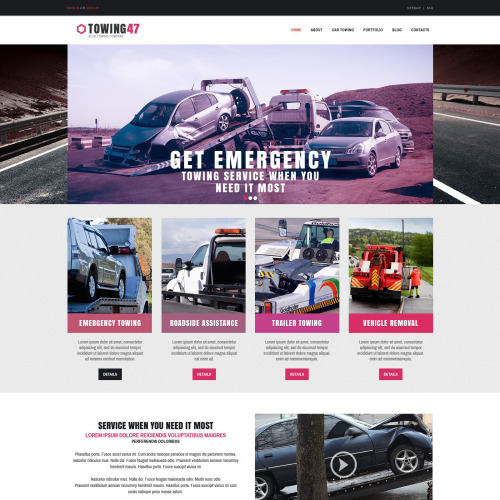 Towing 47 - Responsive Drupal Template