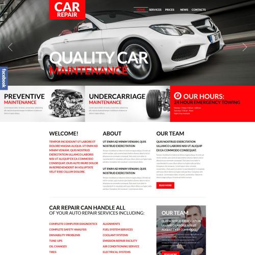 Car Repair - WordPress Template based on Bootstrap