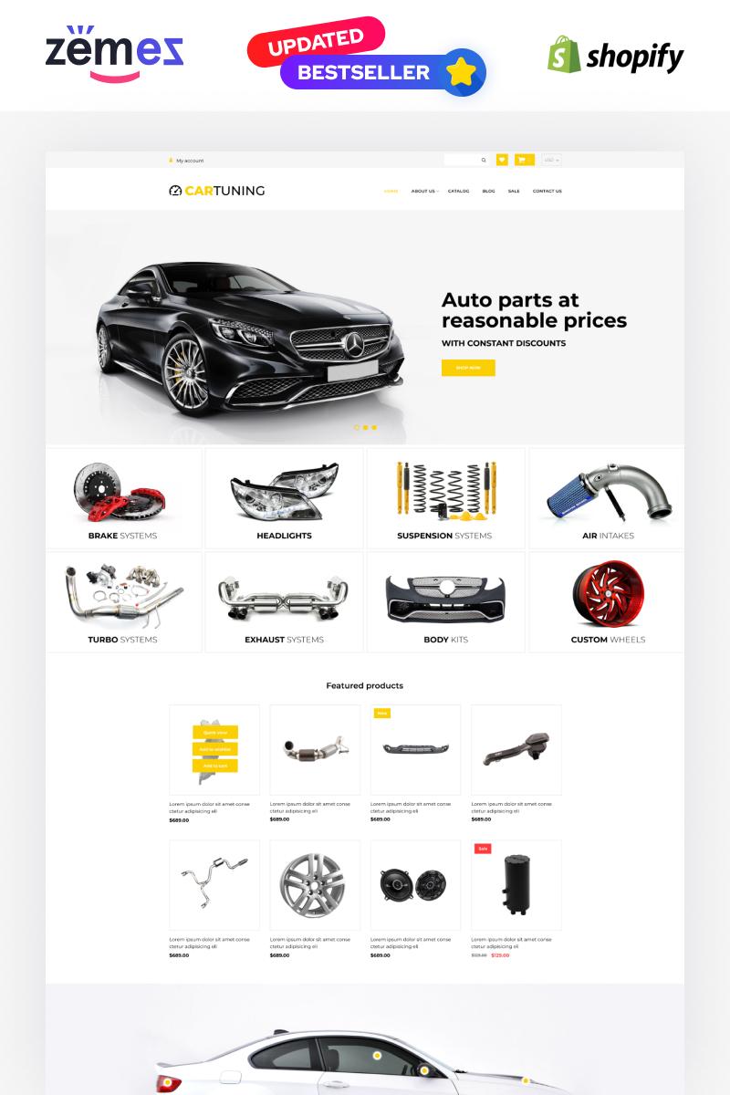 """Car Tuning eCommerce Template"" - адаптивний Shopify шаблон №52725"