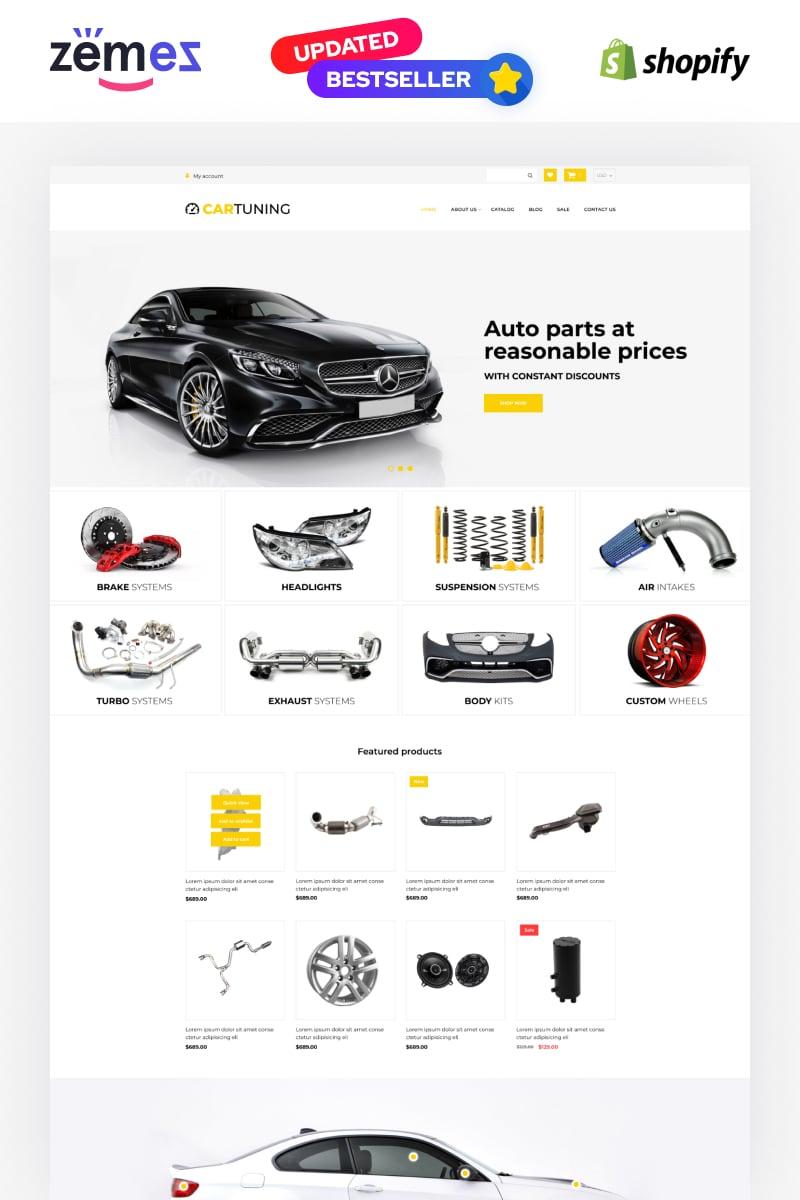 Car Tuning eCommerce Template Tema de Shopify №52725 - screenshot