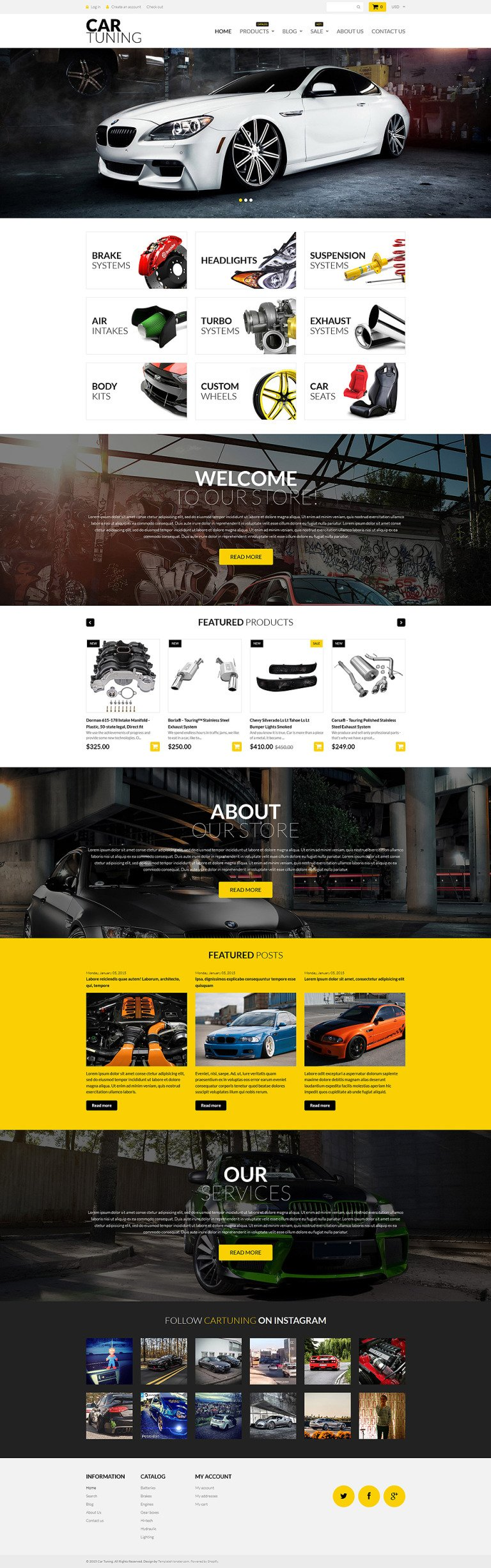 Car Tuning Shopify Theme New Screenshots BIG