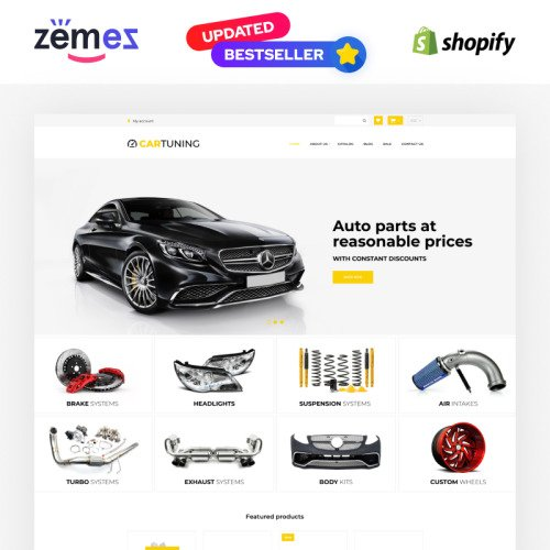 Car Tuning - Shopify Template based on Bootstrap