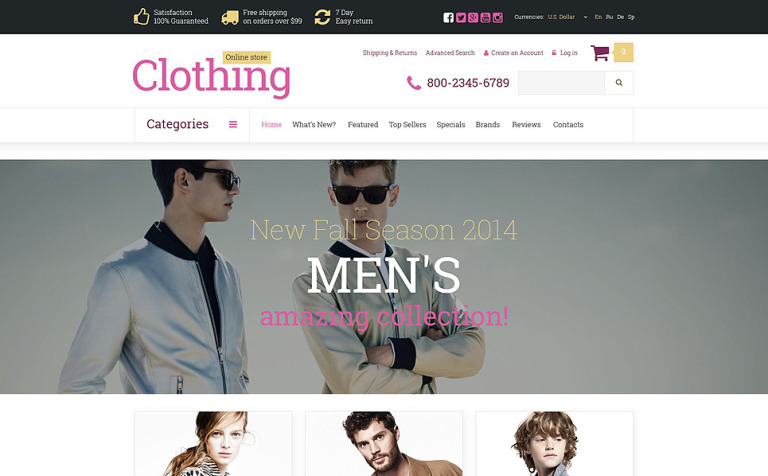 Clothes Store OsCommerce Template