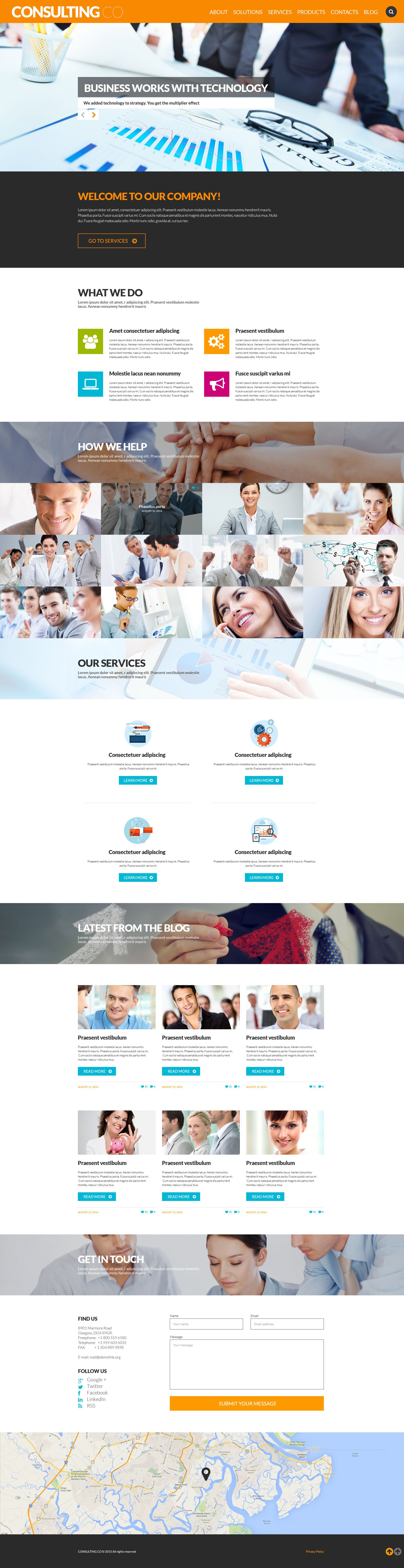 Consulting Co WordPress Theme - screenshot