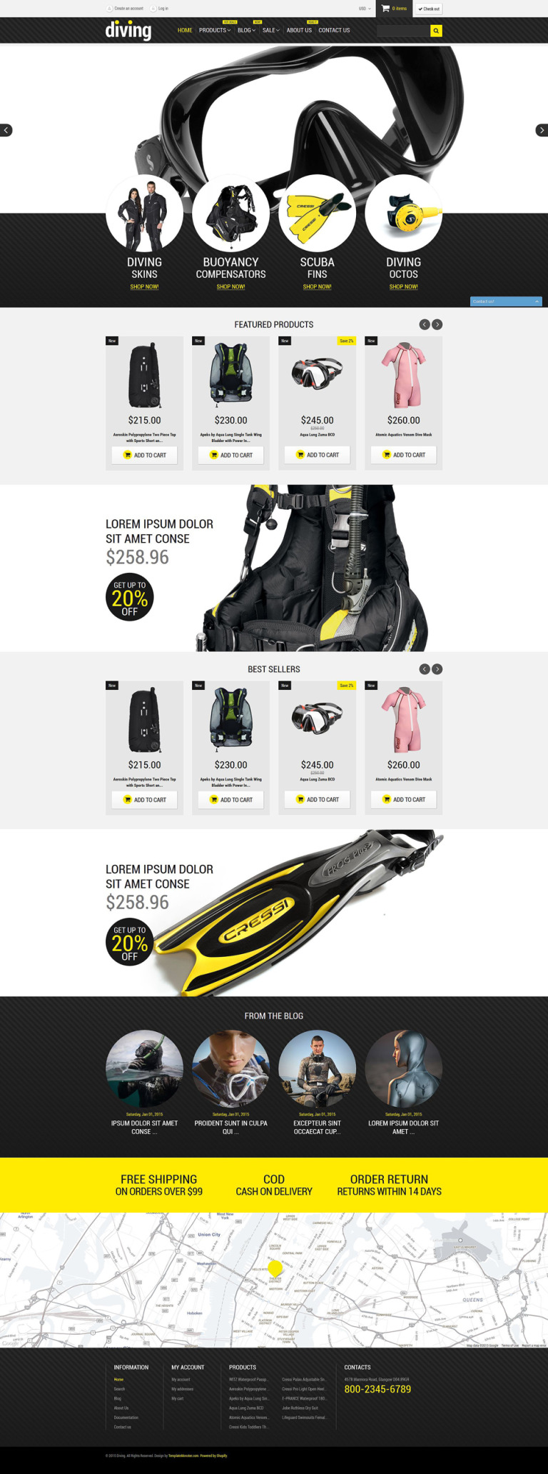 Diving Shop Shopify Theme New Screenshots BIG
