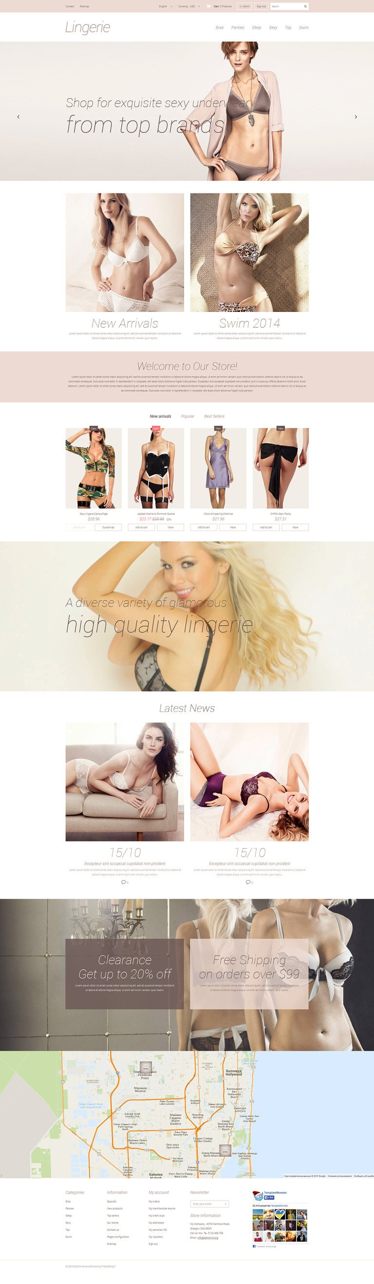 Elegant Lingerie PrestaShop Theme New Screenshots BIG