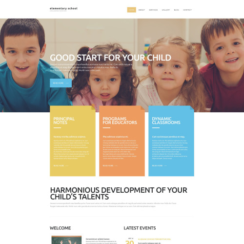 Elementary School - Responsive Website Template