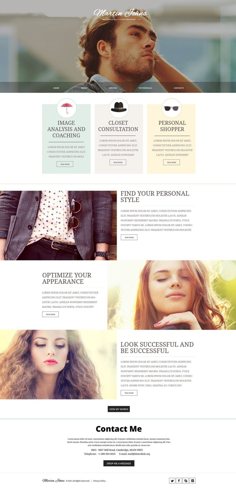 Fashion Responsive Website Template New Screenshots BIG