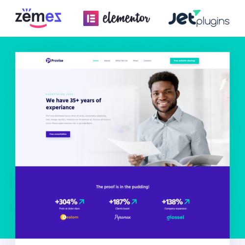 ProVise Financial Advisor - Responsive WordPress Template