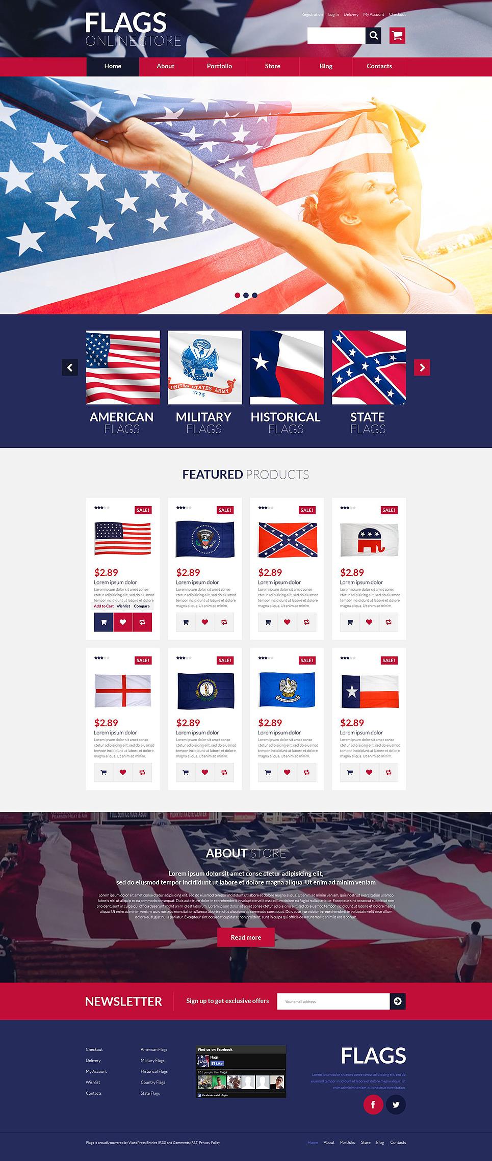 Flags Store WooCommerce Theme New Screenshots BIG