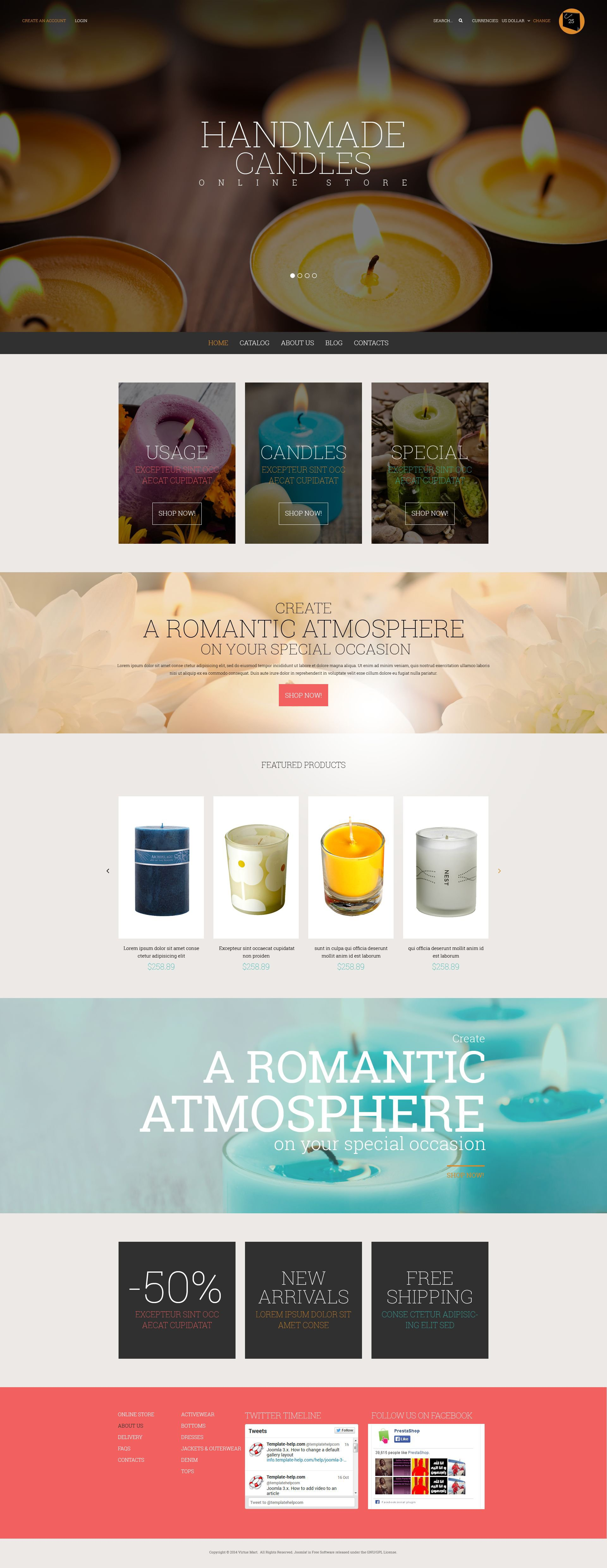 Fresh Style for Online Shop Template VirtueMart №52723