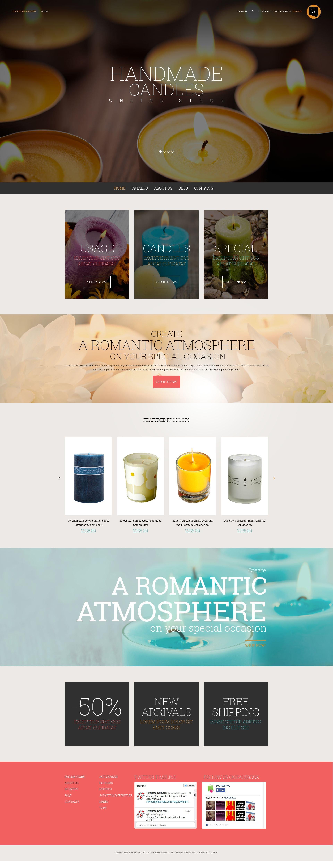 """Fresh Style for Online Shop"" - VirtueMart шаблон №52723"