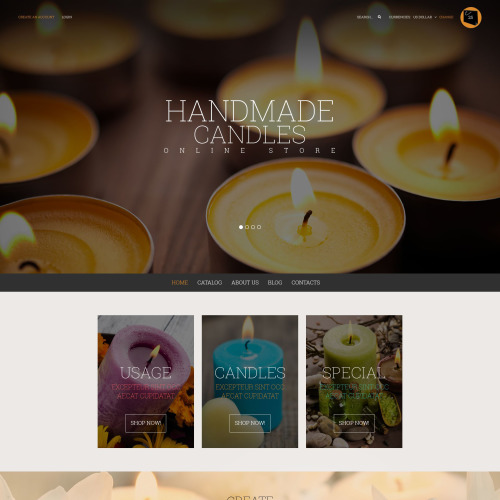 Handmade Candles   - VirtueMart Template based on Bootstrap