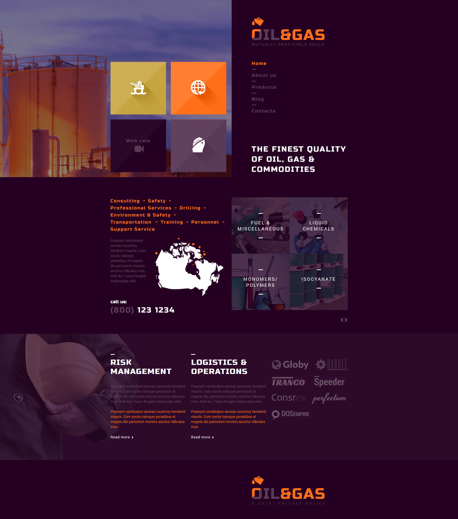 """Gas and Oil Trading"" - адаптивний Joomla шаблон №52710 - скріншот"