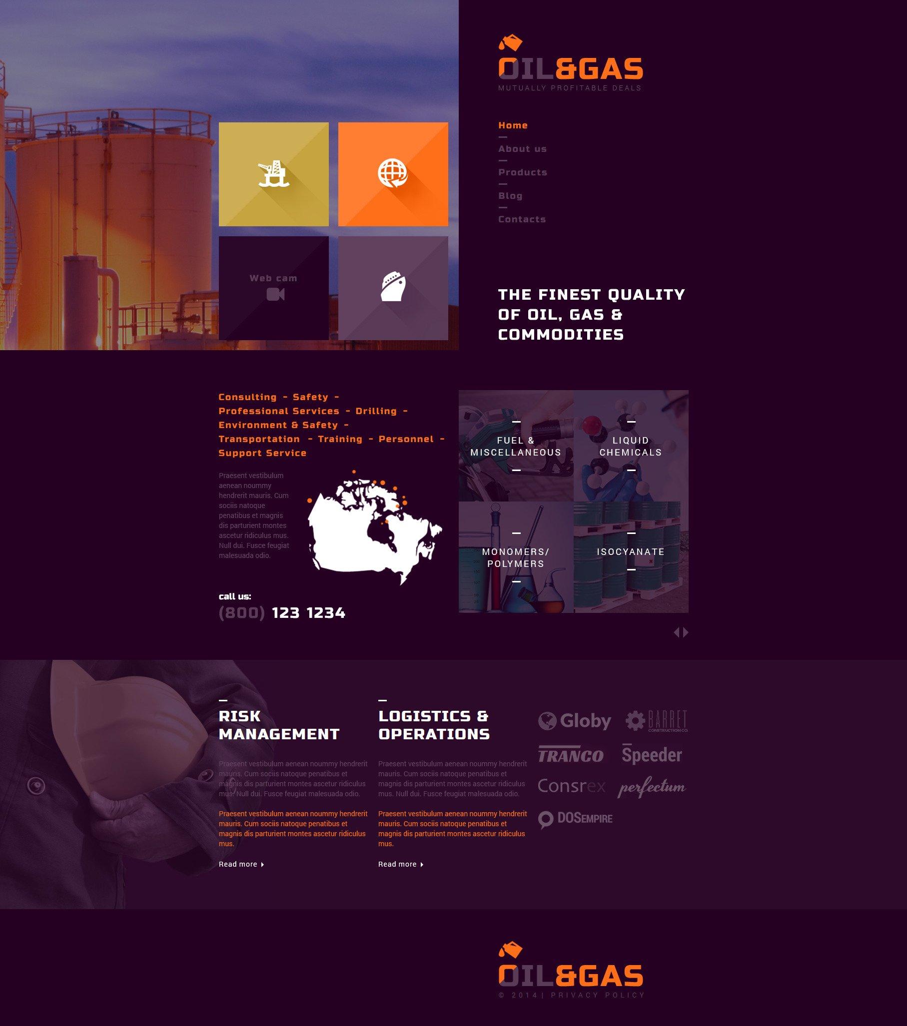 """Gas and Oil Trading"" Responsive Joomla Template №52710 - screenshot"