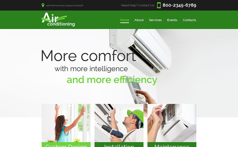 heating air conditioning co website template new screenshots big