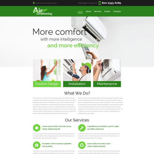 Air Conditioning - Heating Air Conditioning Co Responsive Website Template Responsive Website Template