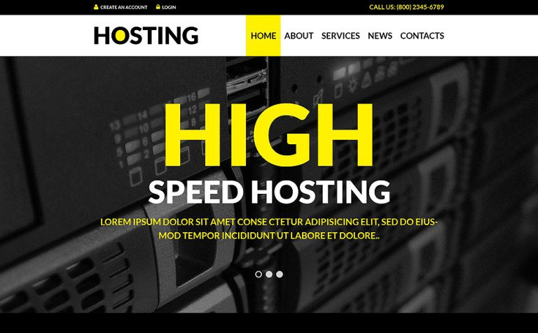 Hosting Solutions WordPress Theme