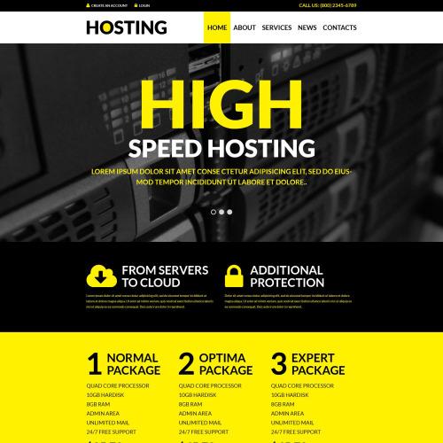 Hosting  - WordPress Template based on Bootstrap