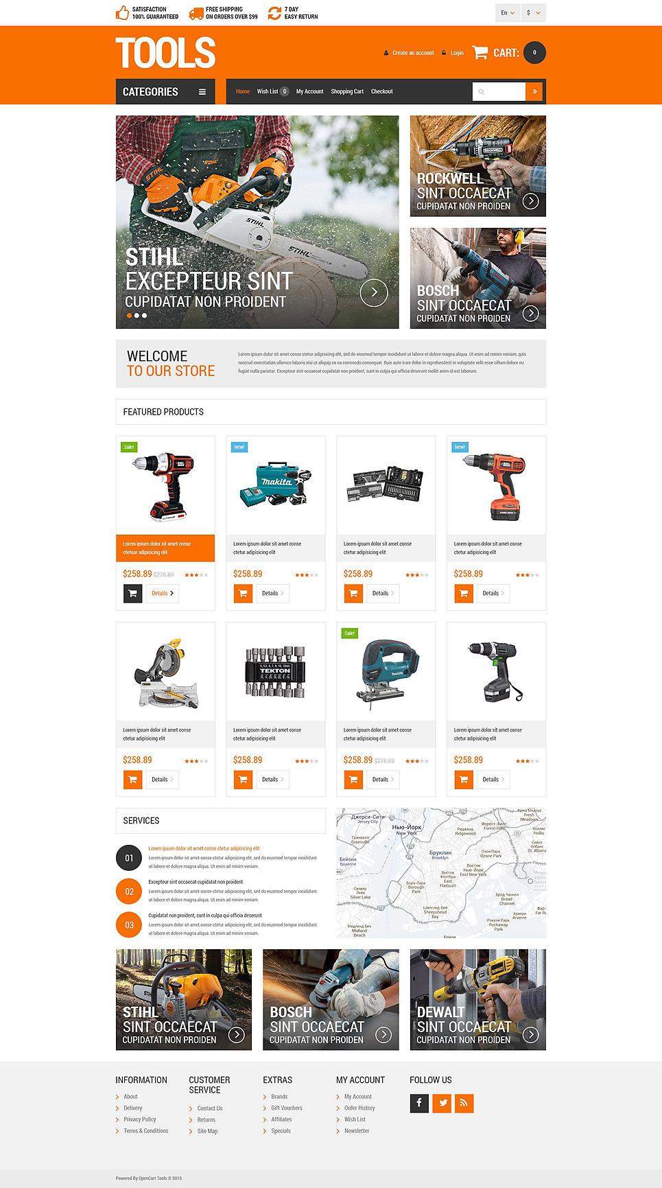Householders Tools OpenCart Template New Screenshots BIG