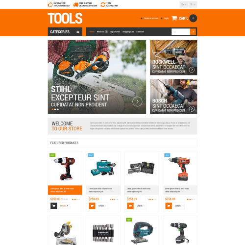 Tools - OpenCart Template based on Bootstrap
