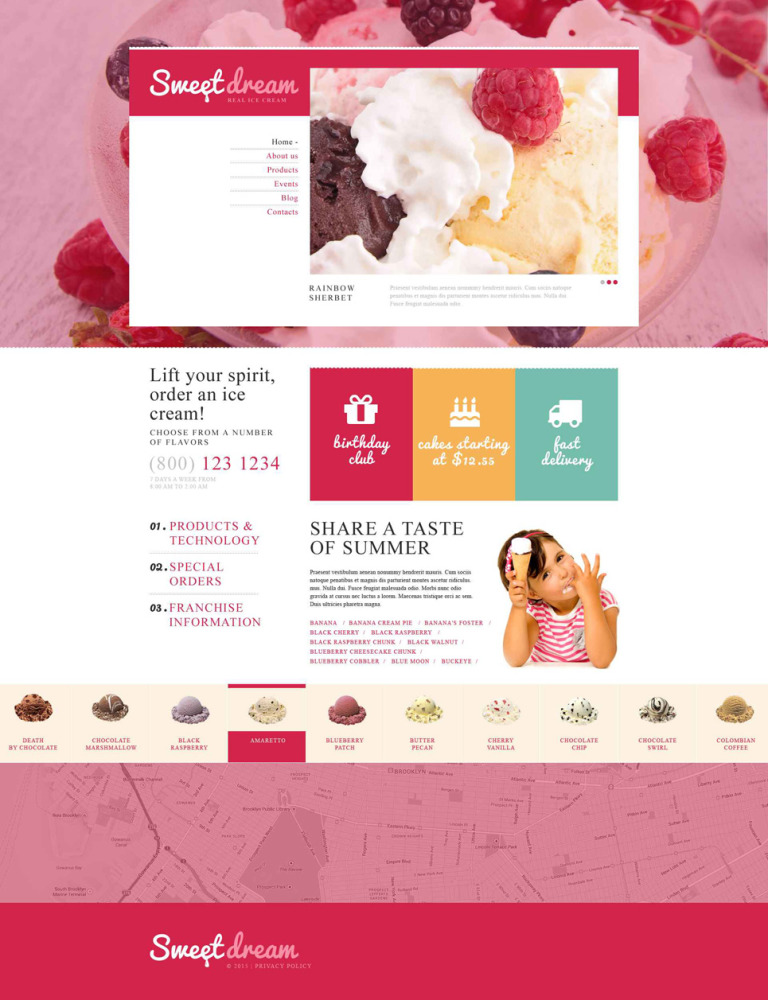 Ice Cream Production Joomla Template New Screenshots BIG
