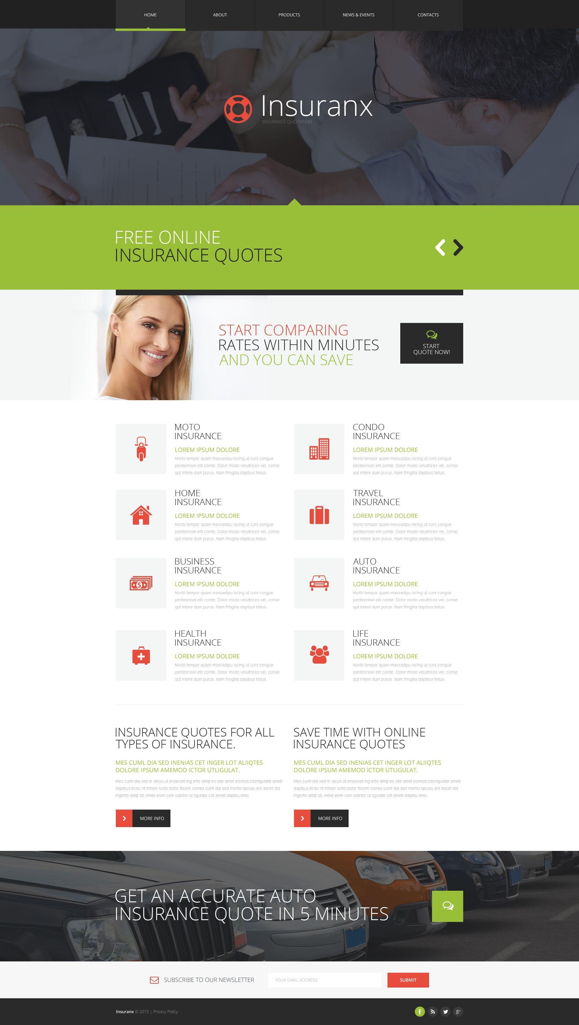 Insurance Responsive Website Template - screenshot