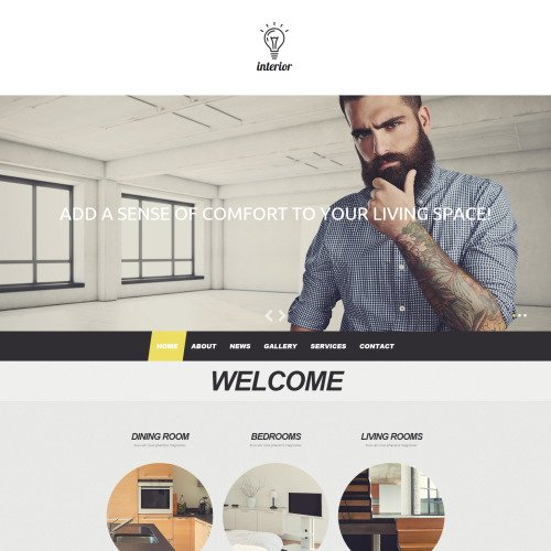 Interior - MotoCMS 3 Template based on Bootstrap