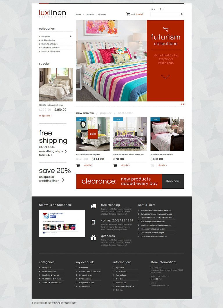 Luxury Linen Store PrestaShop Theme New Screenshots BIG