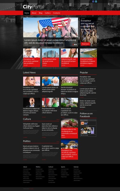 City Portal Moto CMS HTML šablona