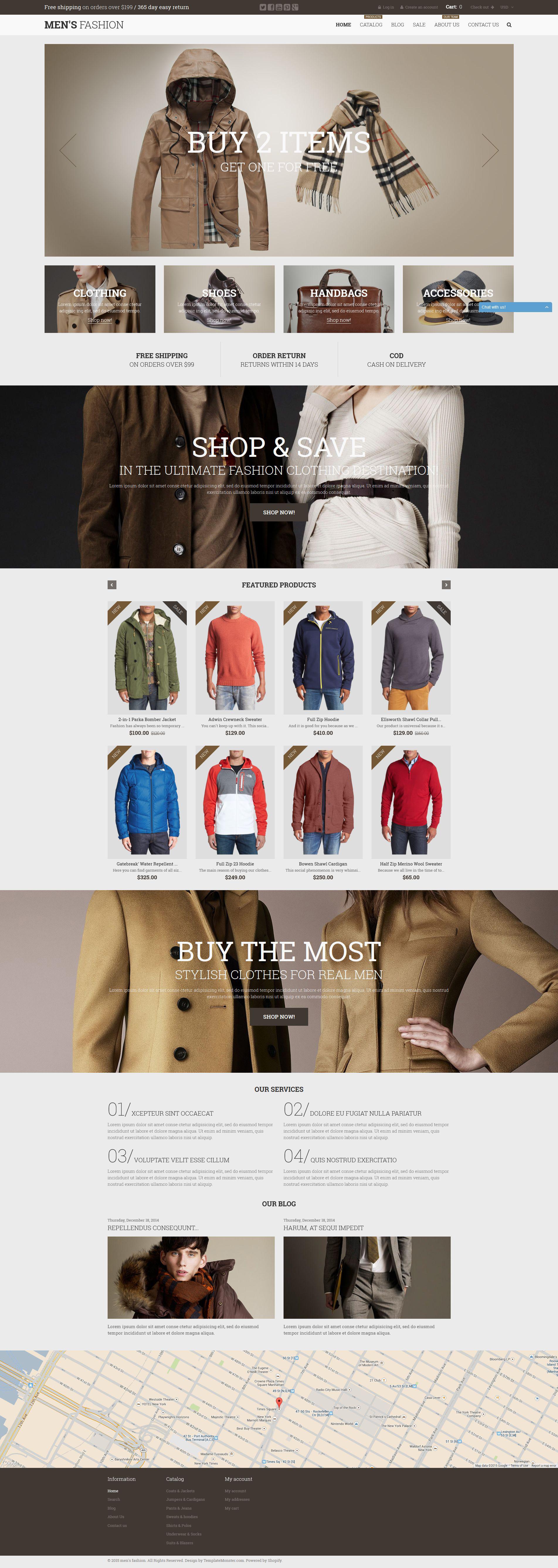 Male Fashion Shopify Theme - screenshot