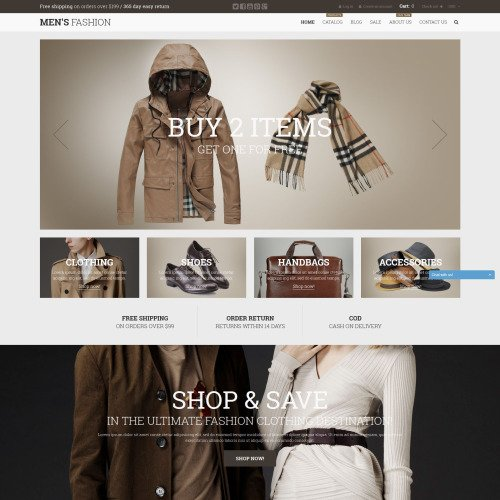 Men's Fashion - Shopify Template based on Bootstrap
