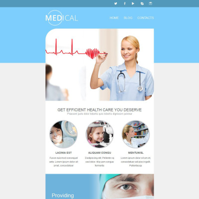 Medical & health care | half fold newsletter templates.