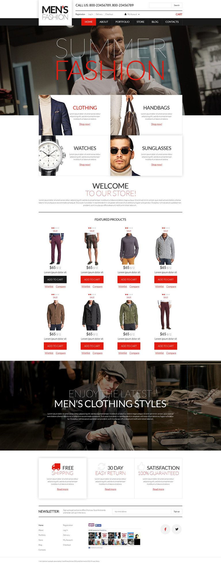 Men's Corporate Wear WooCommerce Theme New Screenshots BIG