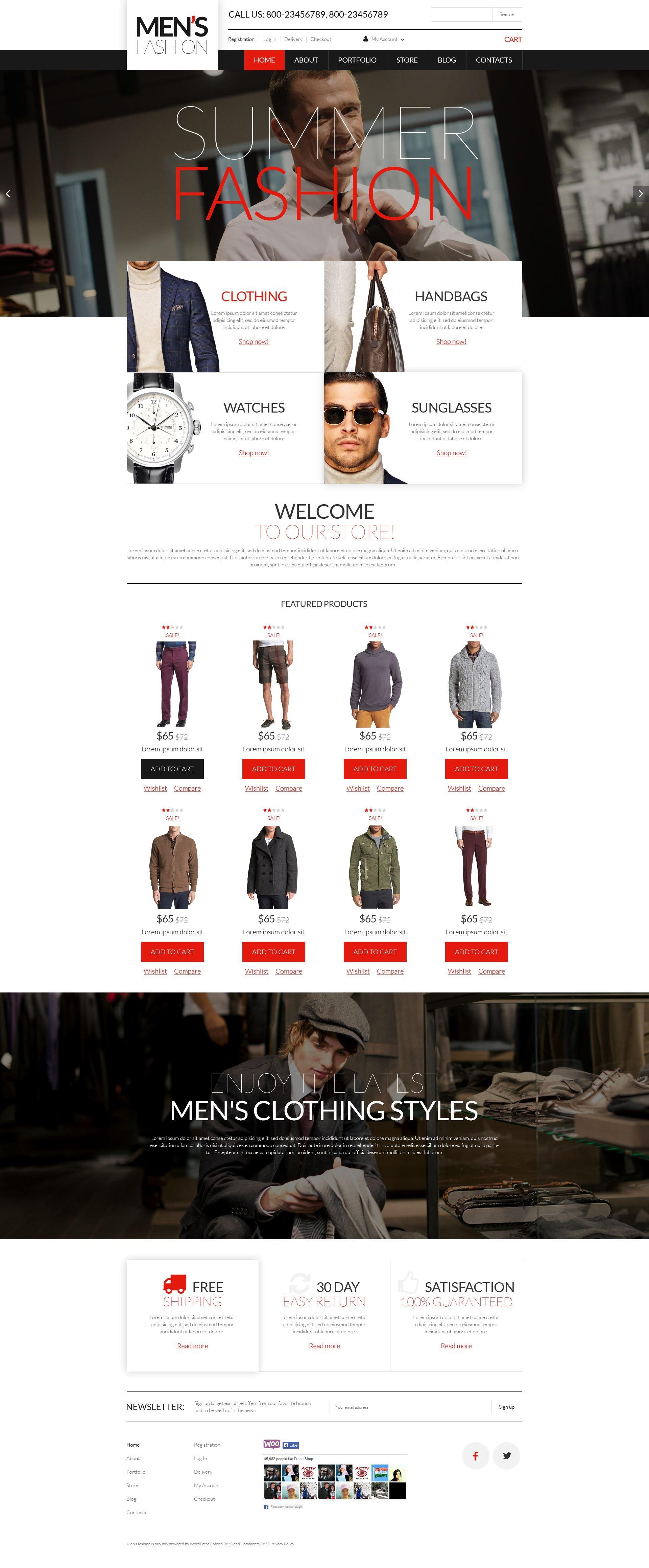 Men's Corporate Wear WooCommerce Theme - screenshot