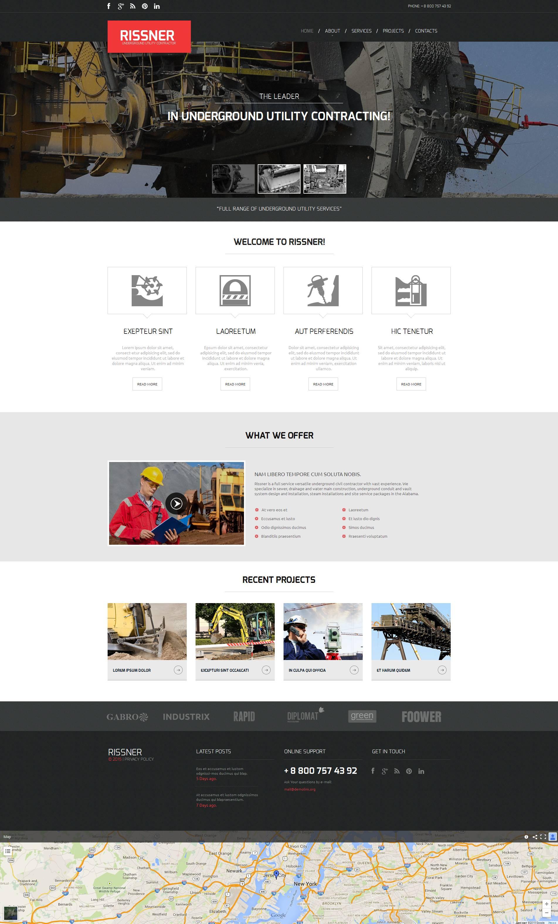 Mining Company Moto CMS HTML Template