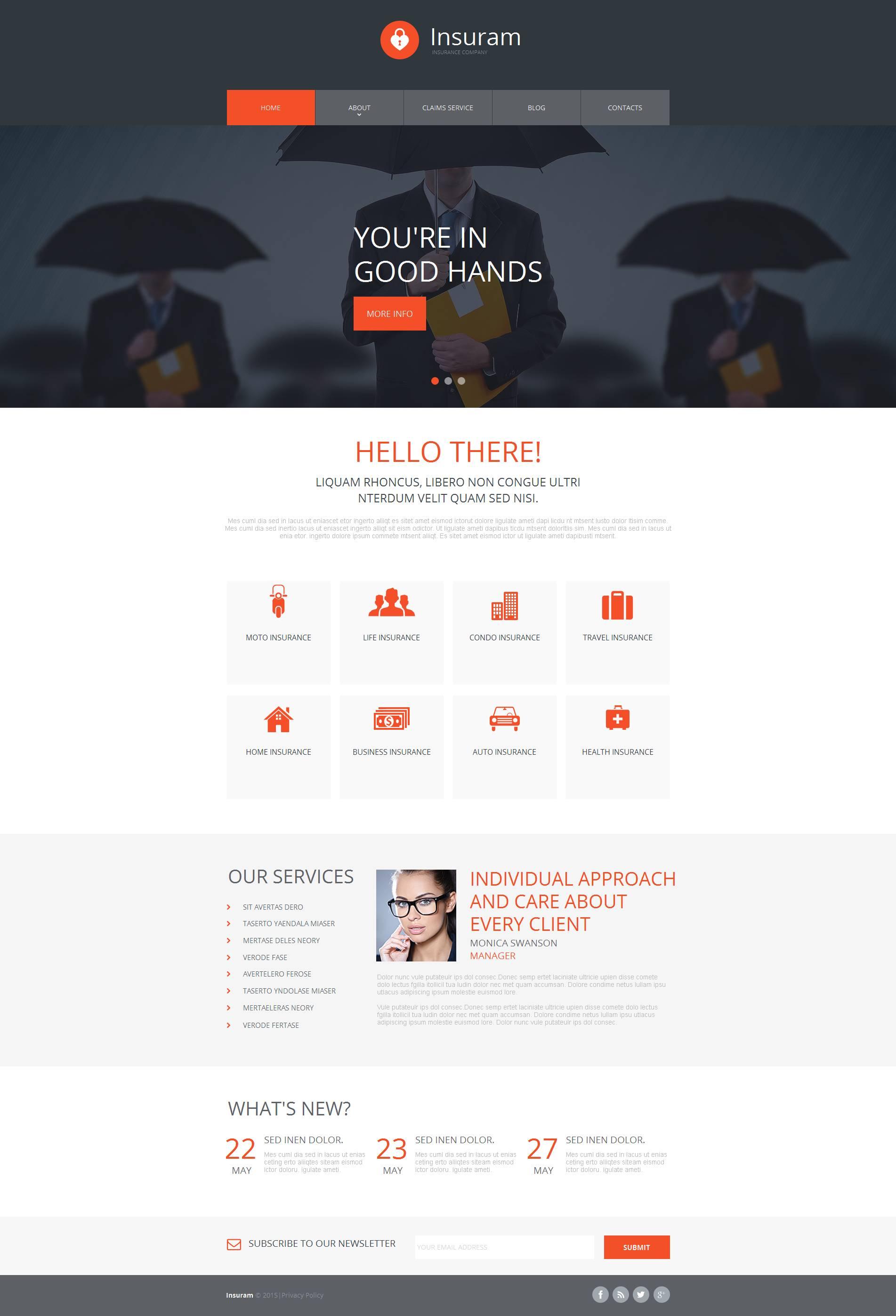 Modèle HTML de l'Assurance Moto CMS