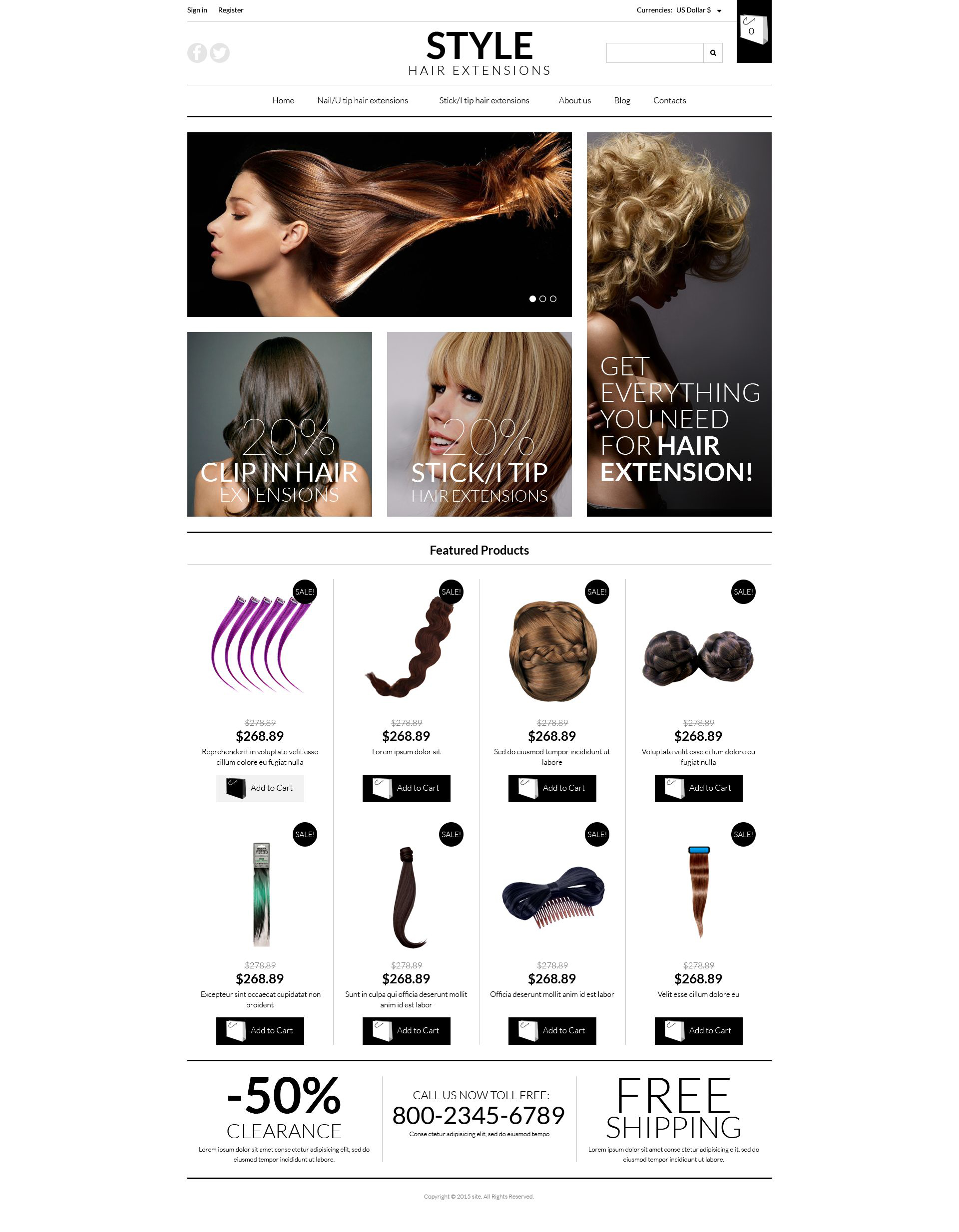 "Modello VirtueMart #52760 ""Pro Hair Extensions"""