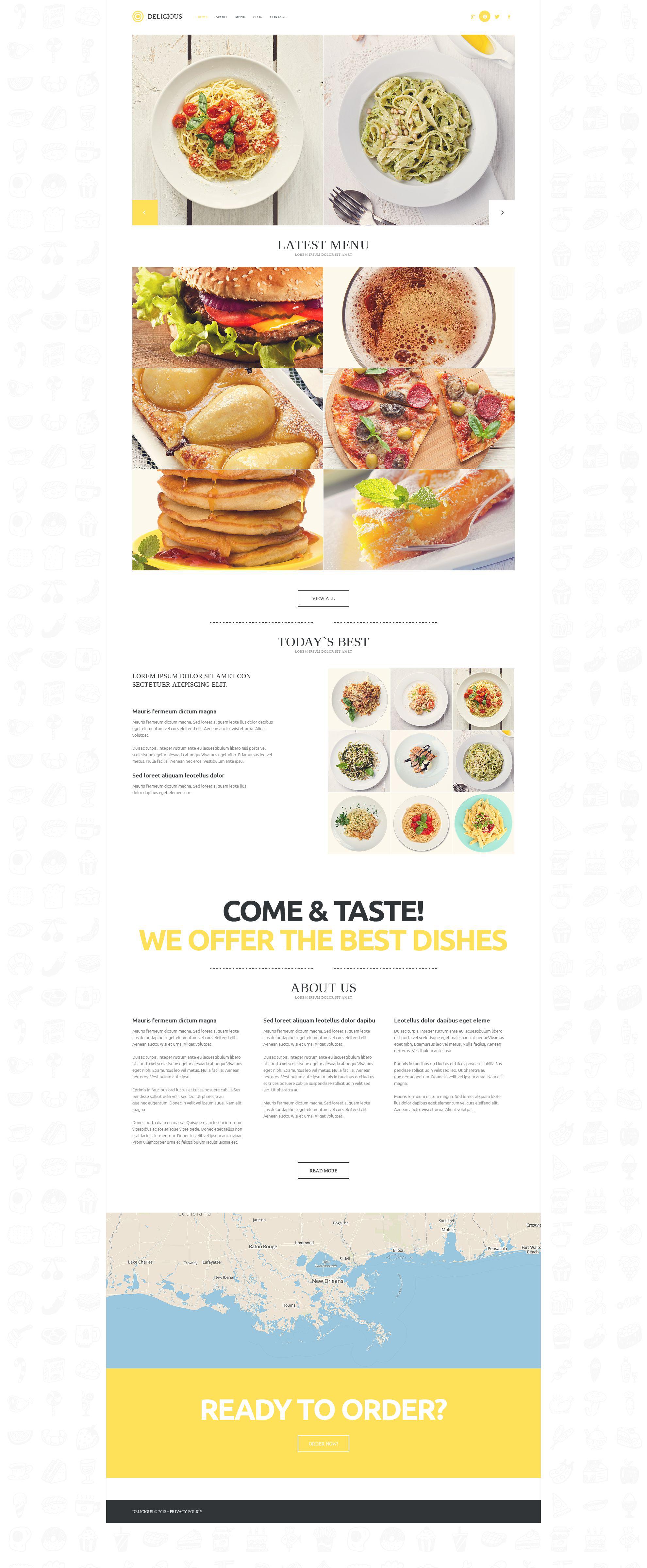 Modern Cafe  Restaurant WordPress Theme