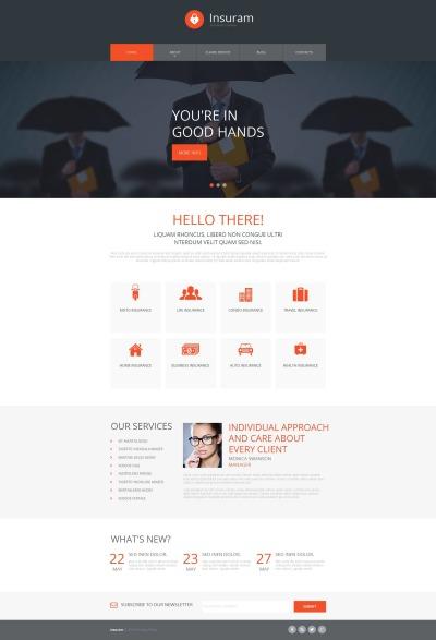 MotoCMS HTML шаблон №52781 на тему страховая компания