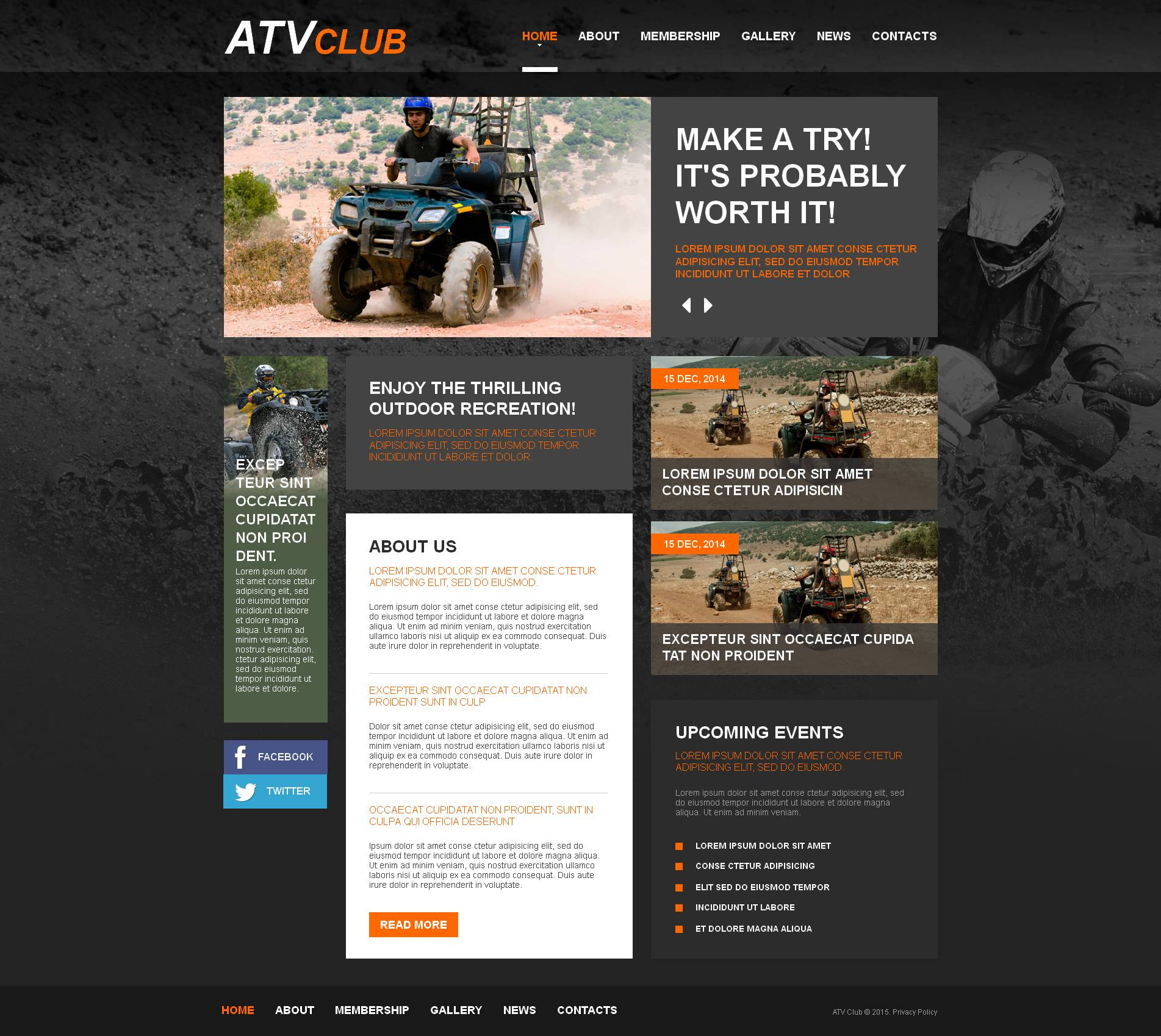 Motor Sports Moto CMS HTML Template