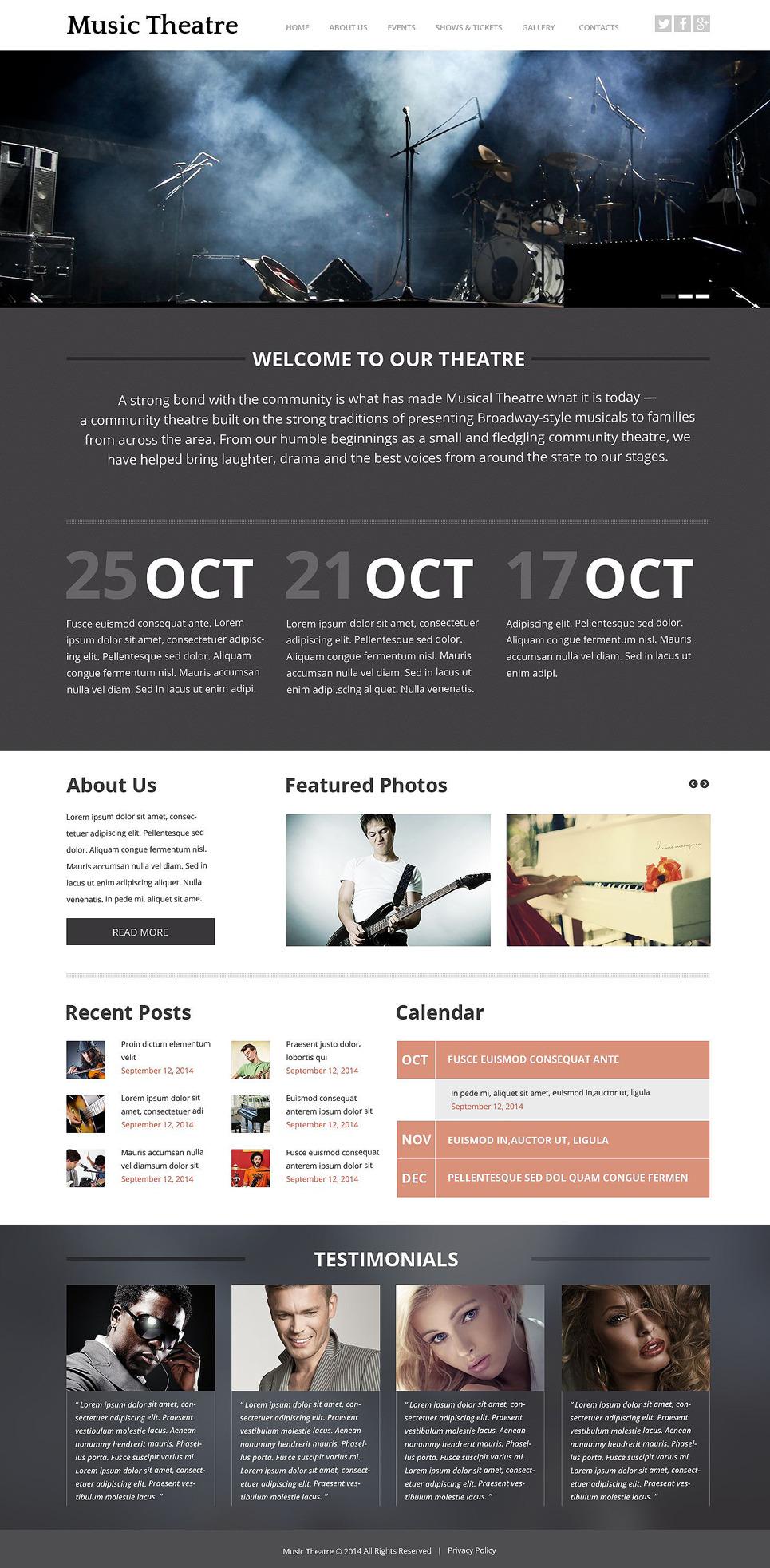 Music Theater Website Template New Screenshots BIG